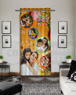 Personalized Curtains Drapes Happy Birthday Collage