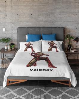 Customized Kids Bedsheet Set Iron man character